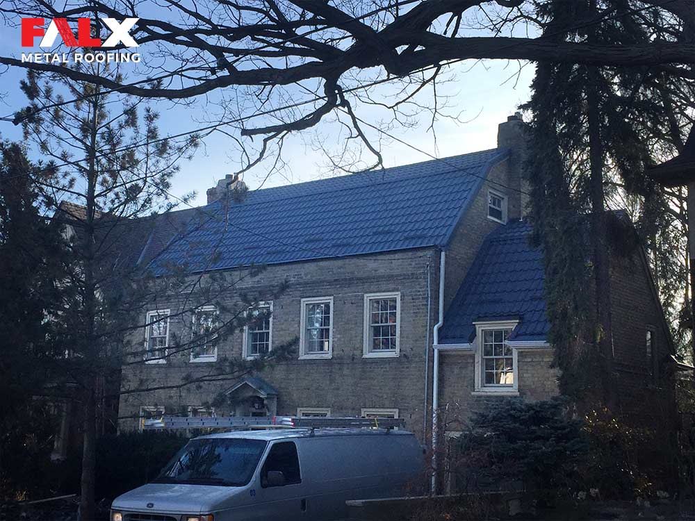 after grey metal roof