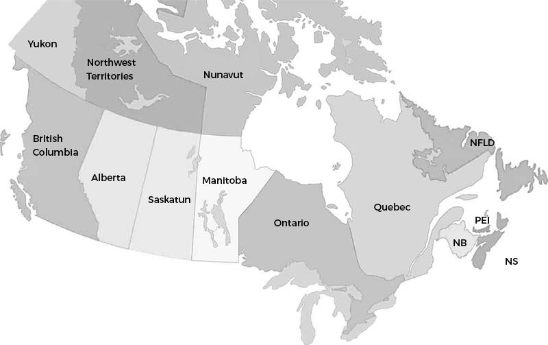 Canadian roofing map