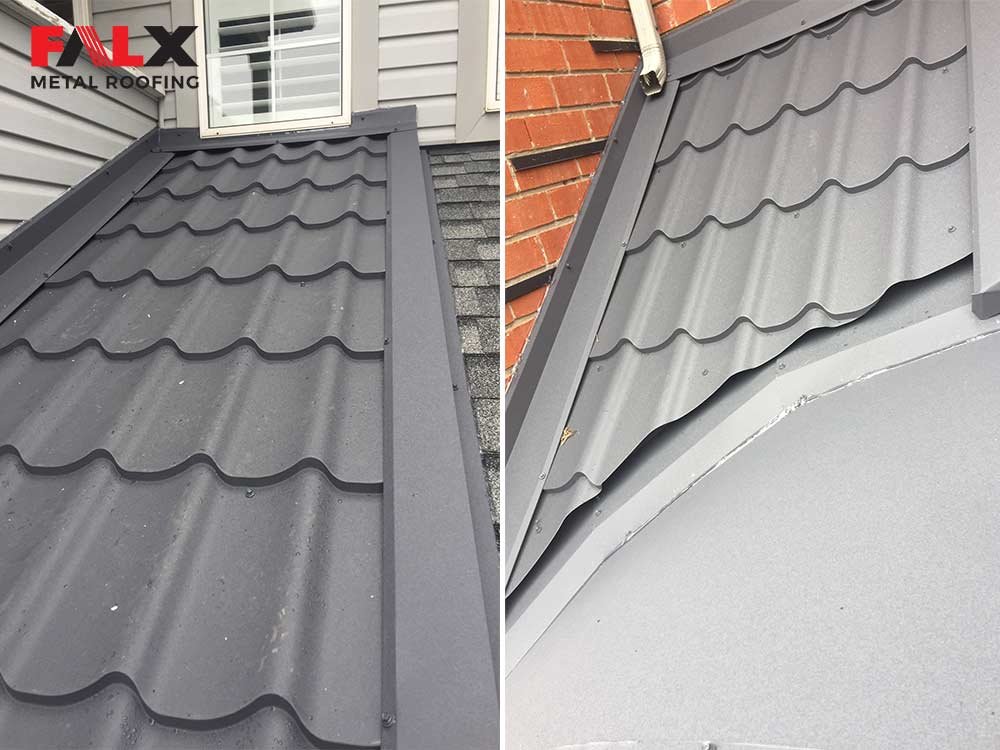 slate grey metal roof