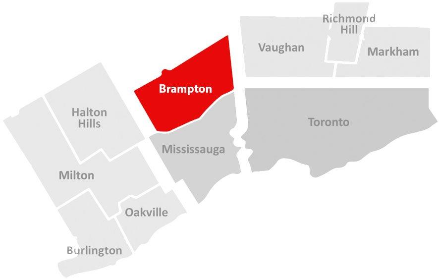 brampton gta map